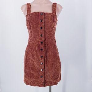 Aeropostale Corduroy Rust Brown Red Jumper Dress